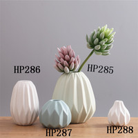 Ceramic Novel Vase Modern Minimalista Living Room Table Ornamentos De Decoração Macia Atacado Flor Inserindo Dom Brindar Chrisma HP286