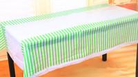 Wholesale Kids Party Table Cloths - Wholesale-180*108cm Disposable Polka Stripe Plastic Table Cloth Kids Birthday Party Decoration Baby Shower Decoration Supplies 3pcs