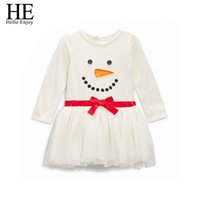 Wholesale Wholesale Infant Clothing China - Wholesale- Hello Enjoy Christmas dress girl dress santa claus baby girls clothing dresses kids clothes Fashion infant clothing china