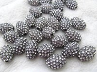 Wholesale Gemstone Connector Beads - 50pcs 8-20mm Wave Pave Gunemtal Bead Clear Zircon Gemstones Pave Rice Barrel DrumConnector Charm Beads Silver Gold Rose Gold Gunmetal