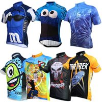 2017 Cartoon Jerseys Ciclismo Camisas Laughing Planet Cookie Bicicleta Thin Wicking Manga Corta Bike Wear High Elástico Ciclismo Tops XS-4XL