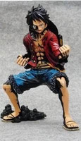 Wholesale One Piece Cool Action Figures - Wholesale Q Version Toys Wholesale One Piece Monkey Luffy PVC Action Figure 18cm Toy cool man beautiful Toy the king man