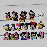 Wholesale pvc rubber charms resale online - 80pcs Hot Cartoon PVC Shoe Charms Ornaments Buckles Fit for Shoes Bracelets Charm Decoration Shoe Accessories Party Gift