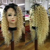 Wholesale Blonde Curly Lace Front Human - Curly Blonde Human Hair Wigs Brazilian Blonde Full Lace Human Hair Wigs 100% Glueless Lace Front Wig