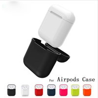 per Apple Airpods colorato Custodia protettiva Custodia in silicone morbida per custodia per WaterProof per iPhone 7 Accessori Cover Airpods Cover