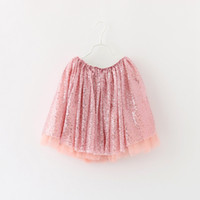 Wholesale Vintage Western Clothing - Princess Girls Tutu Sequin Lace Skirts Ruffles Western Vintage Red Party Skirts Cute Baby Clothing