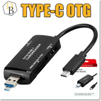 Wholesale Ms Cable - Type-C OTG Cable Adapter Hub Card Reader MMC MS SD TF M2 Data Sync Micro USB TypeC all in one Cellphone Convertor