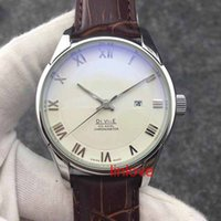 Wholesale Mens Dress Watches Leather Strap - Leather Strap Luxury Brand Automatic Watch Steel Mens Glass Back Business Men's Wristwatches Dress Casual women's fashion Watches