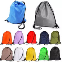 Wholesale Tennis Bags Sale - No printing sales kids' clothes shoes bag School Drawstring Frozen Sport Gym PE Dance Backpacks