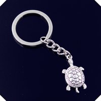 nuovo-fashion-men-30mm-keychain-DIY-metal-holder-catena-vintage-tortoise-tartaruga-mare-30-15mm-chiave d'argento