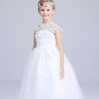 online Shopping Korean Wedding Dress Full - The new 2017 a wedding dress princess dress girls skirt Korean embroidery flower girl dress ins