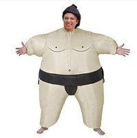 Wholesale Inflatable Halloween - Fan Operated Inflatable Sumo Suits Costume Sumo Wrestling Suits Outfits Halloween Purim Costumes Party Christmas Gift