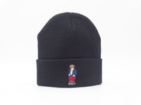 Wholesale Bear Beanie Hat - News good winter BEAR LYLE & SCOTTS - 'HERITAGE' WOOL BLEND BEANIE WITH EAGLE LOGO PALACE SKATEBOARDS OG TRI-FERG CLASSIC BEANI