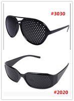 Wholesale Vision Eye Exercises - Black Unisex Vision Care Pin hole Eyeglasses pinhole Glasses Eye Exercise Eyesight Improve plastic DHL FREE SHIPPING
