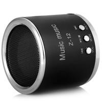 tragbares mobiles mp4 großhandel-Z - 12 Portable Sound Lautsprecher Eingebautes FM Radio mit Kopfhörerausgang für Handy MP3 MP4 Player Lautsprecher TF-Karte