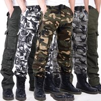 Wholesale Military Jeans - Luxury Men's Multi Pocket Military Jeans Casual Training Plus Size Cotton Breathable Army Camouflage Cargo Pants Outdoor Sports Casual Pants