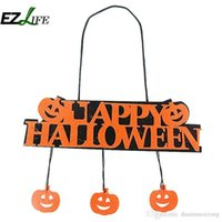 Halloween Pumpkin Pendant Door Decor Hanging Decorazione di Halloween Banner ZH01204