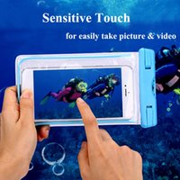 Wholesale Dry Camera Box - Waterproof Pouch Dry Case Cover for iPhone 4 5S 6 6S 7 7Plus Samsung Huawei Camera Mobile Phone Luminous Swimming Bags free shipping