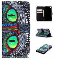 Wholesale Leather Shell Pouch Design - Green Big Eyes Owl Design Pu Leather Flip Stand Wallet Card Holder Pouch Cover Case For Lenovo S90 S 90 Protective Shell