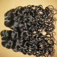 Top 8A Unprocessed Bouncy Natural Curls Water Wave Indian Hair Wefts 3pcs / 300 Pacotes completos DHL processo mais rápido e envio