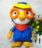 Wholesale Doll Pororo - Wholesale- Free Shipping 30CM Cute Cartoon Penguin Plush Toys Pororo With Glasses Stuffed Dolls Baby Toys Hot Sale