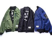 manteaux d'hiver femmes 4xl achat en gros de-Nouvelle arrivée automne hiver MA1 hommes femmes bombardier vintage pilote vestes hip hop veste manteaux M-4XL bleu vert noir
