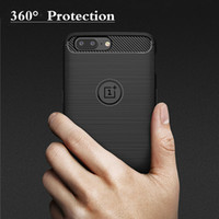 Wholesale silm phone - For Oneplus 5 Case Fashion Soft Silm Silicone Phone Cases For Oneplus 5 TPU Carbon Fiber Texture Cover For One Plus 5 Case