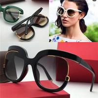 rodada de óculos populares venda por atacado-Populares novos óculos de sol 863 mulheres projetam óculos grandes especialmente projetado moldura redonda alta popularidade nobre e elegante estilo de qualidade superior