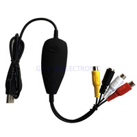 Wholesale Pc Capture Card - Wholesale- 2016 new USB RCA Capture Card, convet analog video audio to digital through PC work for Win7 8 10 Free shipping