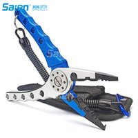 Wholesale Fishing Cutters - Piscifun Aluminum Fishing Pliers Braid Cutters Split Ring Pliers Hook Remover Fish Holder with Sheath and Lanyard