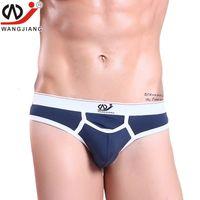 Wholesale Modal Thongs Male - WJ Men Underwear High Quality Modal Sexy G-strings Gay Male Panties Underwear Men Thongs