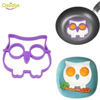 Wholesale fried eggs shaper for sale - Group buy Delidge pc Owl Shape Egg Mold Silicne Cute Owl Fried Egg Mold Ring Shaper Novelty Fun Breakfast Egg Tools