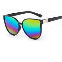Wholesale mosaic mix - 2017 Brand Women Cat Eye Sunglasses Female glasses designer mosaic oculos de sol feminino sun glasses men UV400 Y31