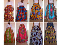 Wholesale 2017 colors African Women Boho Dashiki Dresses Cocktail Clubwear high waist Pleated Skirt National characteristic Maxi Dress