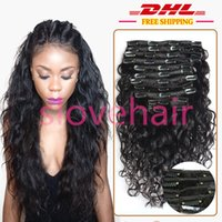 Good quality clip hair extensions reviews best wholesale hair clip in hair extensions curly wavy full head hair 120g water wave hair weave style real good quality pmusecretfo Choice Image