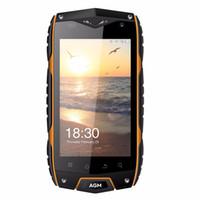 ingrosso telefoni cellulari android di grande schermo-AGM A7 Cellulare da 4.0 pollici 2 GB di RAM 16 GB di ROM Cellulare MSM8909 Quad Core di cellulare 2930 mAh Grande batteria IP68 Impermeabile di telefonia mobile Più recente
