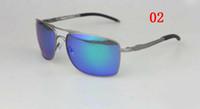 erkekler göstergeleri toptan satış-Sıcak Satış Yeni 2017 En Kaliteli Erkekler Güneş Gözlüğü Açık Gözlük Ölçer Metal çerçeve Moda Güneş Gözlüğü