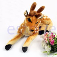 Vente en gros: nouvelle simulation artificielle farcie Animal Sika Deer Plush Toy Gift Soft Toy 40cm