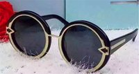Wholesale arrow glass lens - New fashion sunglasses KW outer ring metal round frame simple retro fashion arrow glasses anti-uv400 lens top quality with original box
