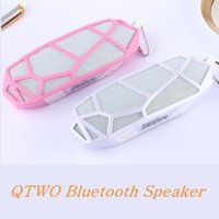Wholesale Honeycomb Speakers - QTWO Honeycomb Diamond Shape Mini Wireless Bluetooth Speakers With Mic Creat Net Structure Big Bass 4.0V Speaker for Mobile Phone Altavoz