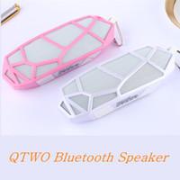 Wholesale Diamond Dock - QTWO Honeycomb Diamond Shape Mini Wireless Bluetooth Speakers With Mic Creat Net Structure Big Bass 4.0V Speaker for Mobile Phone Altavoz