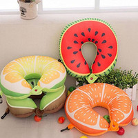 Wholesale airplane seat cushion online - Easy To Use U Shaped Office Nap Pillow Fruit Nanoparticles Neck Pillow Car Airplane Headrest Cushion Nursing Travel Pillow