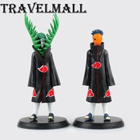 Wholesale Naruto Akatsuki Figures - TraVelMall New 2pcs Anime Akatsuki Zetsu Uchiha Obito Madara 10cm PVC Action Figure Toy Doll Model for NARUTO kids gift