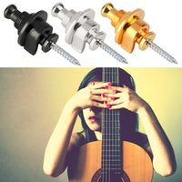 Wholesale locking guitar straps resale online - 1pc Round Head Strap Lock Pins Screw for Electric Acoustic Bass Guitar