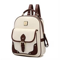 Wholesale Red Small Backpack - 2017 New PU Leather Women Backpack Casual School Bags For Teenagers Girls Travel BackPacks High Quality Shoulders Bag