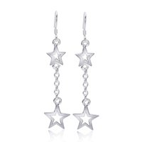 Wholesale Outlet Plate Brass - Dangle Earrings Wholesale Factory Outlet Sterling Silver Star Hermosa Women Ladies Charming Best Quality Fashion Gifts