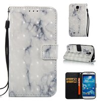 Wholesale galaxy s4 3d - 3D Marble Wallet Case For Samsung Galaxy S4 Case Slim Shockproof Case Flip Stand Cover For Samsung S4 Phone Shell