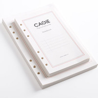 cuaderno de tapa dura vintage al por mayor-Al por mayor- Estándar A5 A6 6 agujeros Reemplazo de papel de recarga de cuaderno de hojas sueltas Dentro de páginas interiores Papeles de relleno en espiral para diario de cuaderno