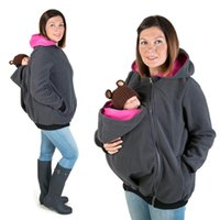 Wholesale maternity clothing online - Brand New Winter Maternity Hoodie Breastfeeding Clothes in Babywearing Coats Maternity Pregnancy Multifunctional Kangaroo Clothing