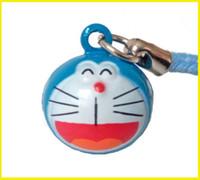 Wholesale Doraemon Mobile - New 50pcs Blue DORAEMON SMILE Pet Bell Collar Charm   Strap for Mobile Phone, Bag 15 mm.